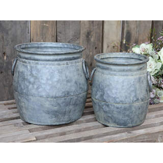Flowerpots for deco Colour: Antique zinc