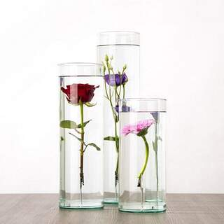 Submerged flower vase unfilled Large Colour: Glass