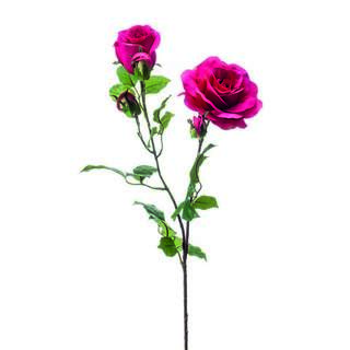 Rose eva spray x2 84cm fuchsia