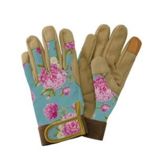 Premium Comfort Gloves - Peony Aqua Medium