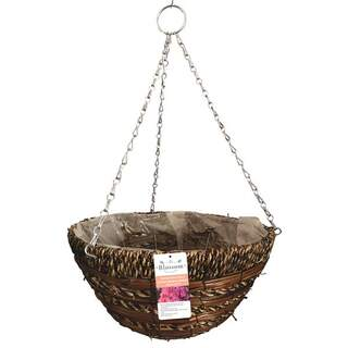 Gardman Sisal Rope & Fern Hanging Basket Natural 14""