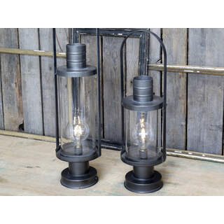 French Stable Lantern incl. bulb & timer