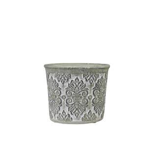 Flowerpot with French pattern