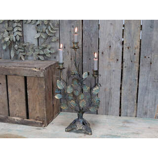 Candlestick w leaves