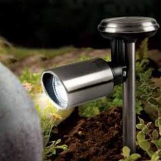 Solar Stainless Steel Spotlight
