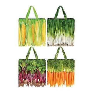 Shopping bag vegetables ass.