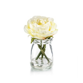Rose dk yellow in glass Colour: yellow