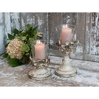 Candlestick with flower decor